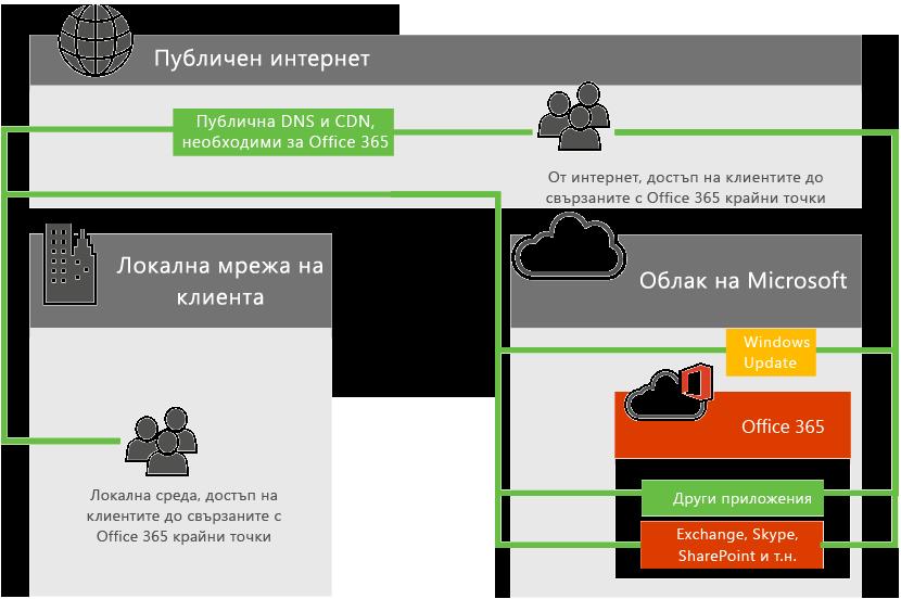 Office 365 мрежова връзка