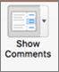 """Изберете """"Показване на коментари""""."""