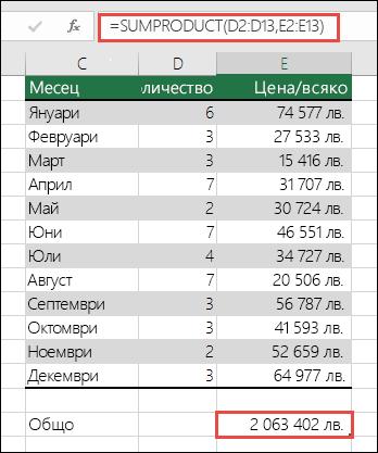 Коригиране на грешката #VALUE! в данните за разрешаване на грешката в SUMPRODUCT