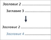 Показва промяната на запис от ниво 3 на запис от ниво 4
