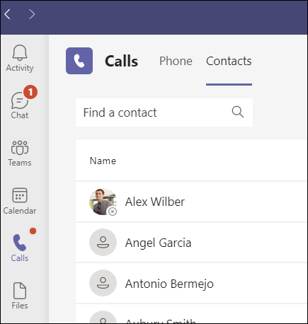 Teams-Contacts бутон-435