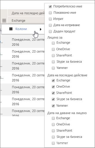 Опции за филтриране на ниво потребител