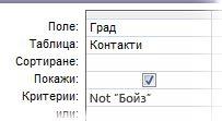 """За да изключите дума или фраза, използвайте критерий """"Not"""", последван от думата или фразата, която искате да изключите."""
