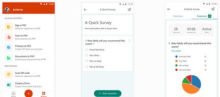 Формуляри в мобилното приложение на Office