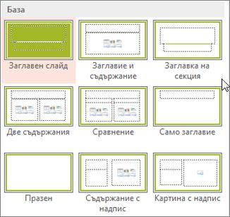 Оформления на слайдове в PowerPoint