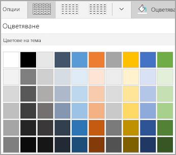 Windows Mobile оцветяване на таблица