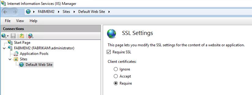 SSL настройки