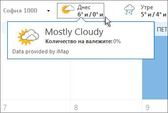 лента ''прогноза за времето''