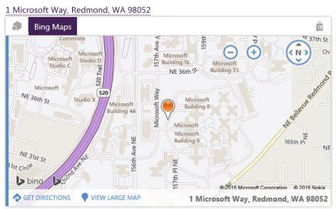 Карта от Bing