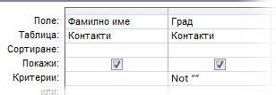 критерий на конструктора на заявки, задаващ поле за страна, което не е празно