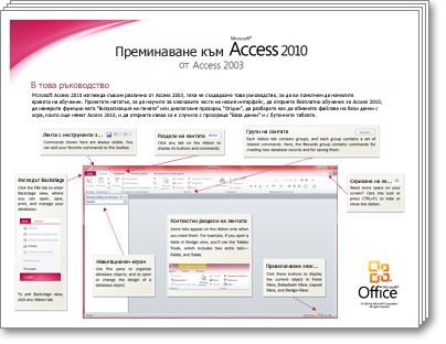 миниатюра на справочника за преминаване към access 2010