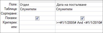 Този критерий за дата ще работи