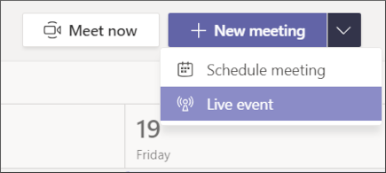 ново събрание – бутон за събитие на живо