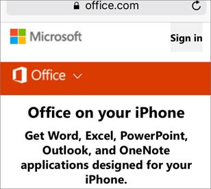 Отидете в office.com