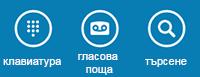 Използвайте иконите в долния край на екрана, за да покажете клавиатурата за набиране, да проверите гласовата поща или да търсите контакти
