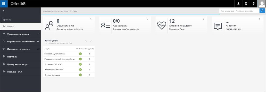 Новият облик на центъра за администриране на партньор