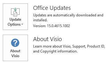 The screenshot for Visio Click To Run
