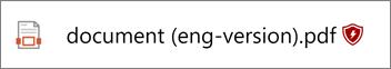 Когато даден файл е блокиран, ще видите маркер в края на името на файла