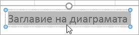 Избиране на текст на заглавие на диаграма