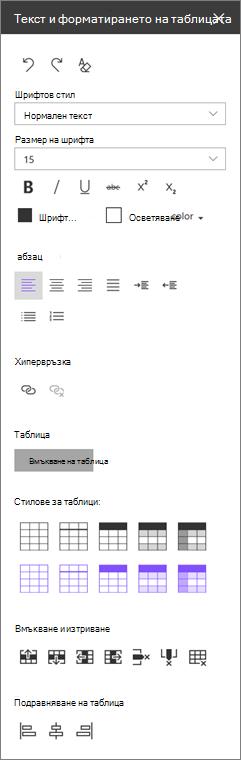 Уеб част за форматиране мрежа