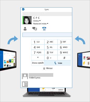 Online schůzka pomocí Lyncu