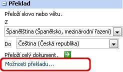 Možnosti překladu