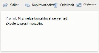 Je nám líto, ale nemůžeme nedaří přístup k serveru teď opakujte na pozdější webu