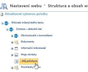 V okně Správce webu klikněte na panelu Snadné spuštění na průzkum