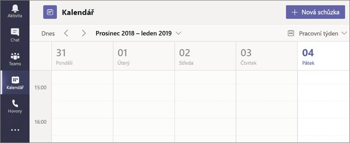 Klikněte na Kalendář apoté zvolte možnost Nová schůzka.