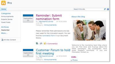 Web s blogem