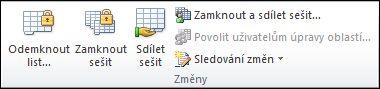 Vzhled pásu karet aplikace Excel