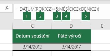 Výpočet kalendářního data založeného na jiném datu