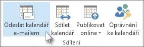 Odeslání kalendáře e-mailem