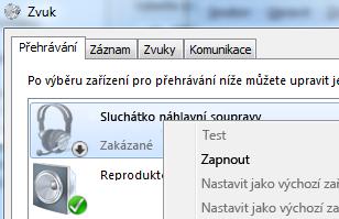Snímek obrazovky s povolením zařízení