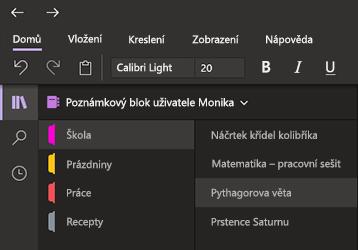Tmavý režim ve OneNotu pro Windows 10