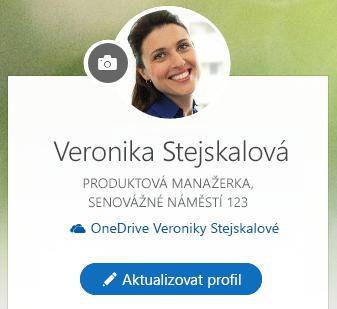 Když chcete změnit svoje informace, klikněte na Aktualizovat profil.