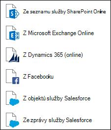 Načtení dat z Online služby