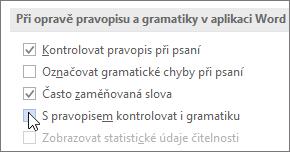 Zaškrtávací políčka Gramatika