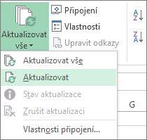 Aktualizovat datové připojení
