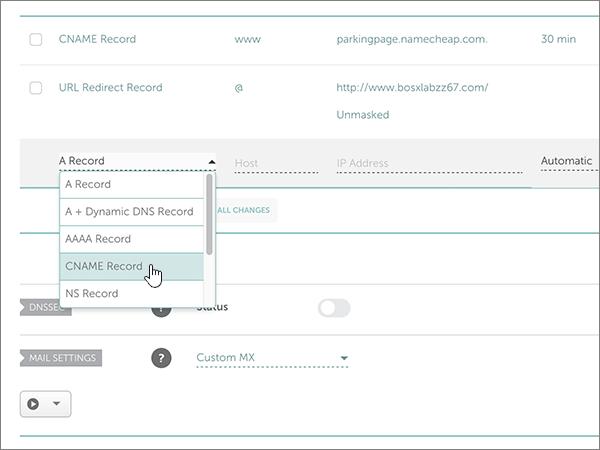 Namecheap-doporučených postupů – konfigurace-3-1