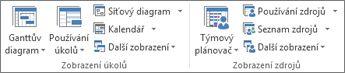 Zobrazení v aplikaci Project