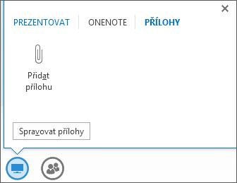 Snímek obrazovky s přidáváním přílohy