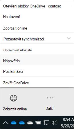 Desktopový klient OneDrivu pro firmy Další informace o možnostech získání nápovědy a odesílání názorů