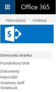 Nalezení propojení se SharePointem