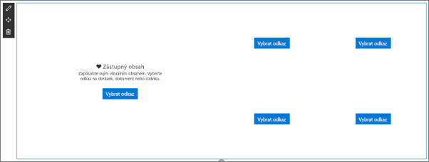 Webová část Obrázek ve stavu prázdné