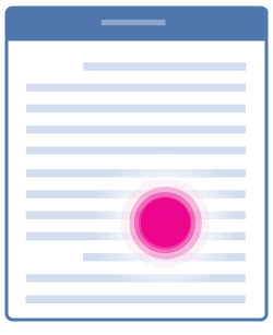 Umístění kurzoru v textu
