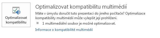 tlačítko optimalizace kompatibility v PowerPointu
