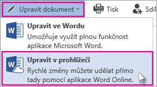 Upravit ve Wordu Online