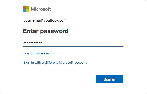 Přihlášení pomocí e-mailové adresy a hesla