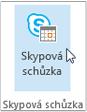 Tlačítko schůzky ve Skypu